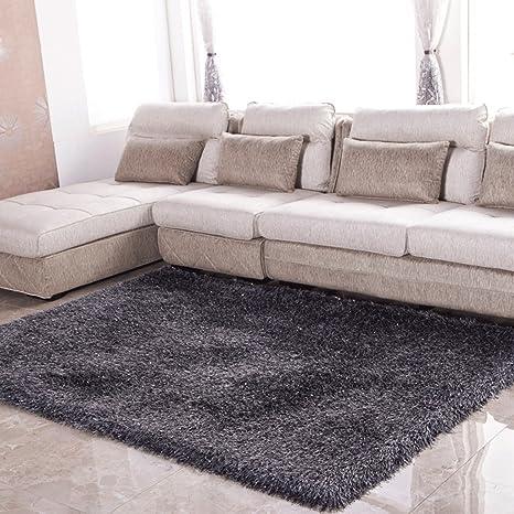 Amazon.com: DGF elástica seda alfombra sala de estar moderna ...