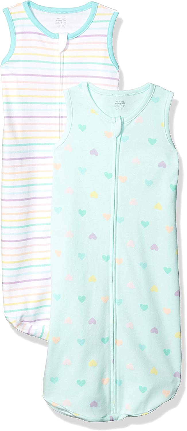 Essentials Baby M/ädchen infant-and-toddler-sleepers 2-pack Cotton Baby Sleep Sack