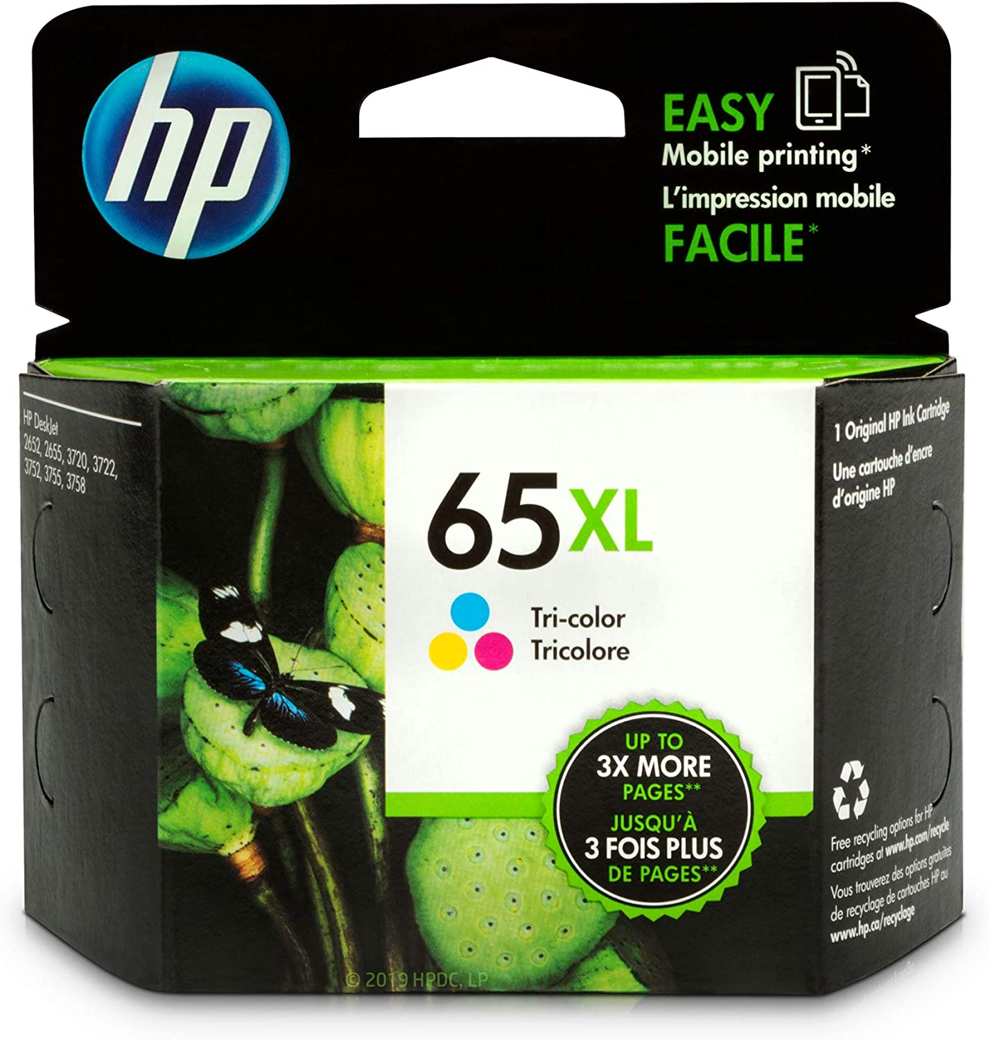 HP 65XL | Ink Cartridge | Tri-color | N9K03AN