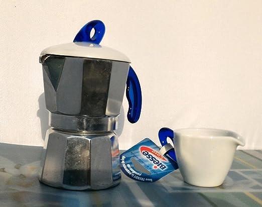 Cafetera 3 Tazas con taza servi-latte BIESSE: Amazon.es: Hogar