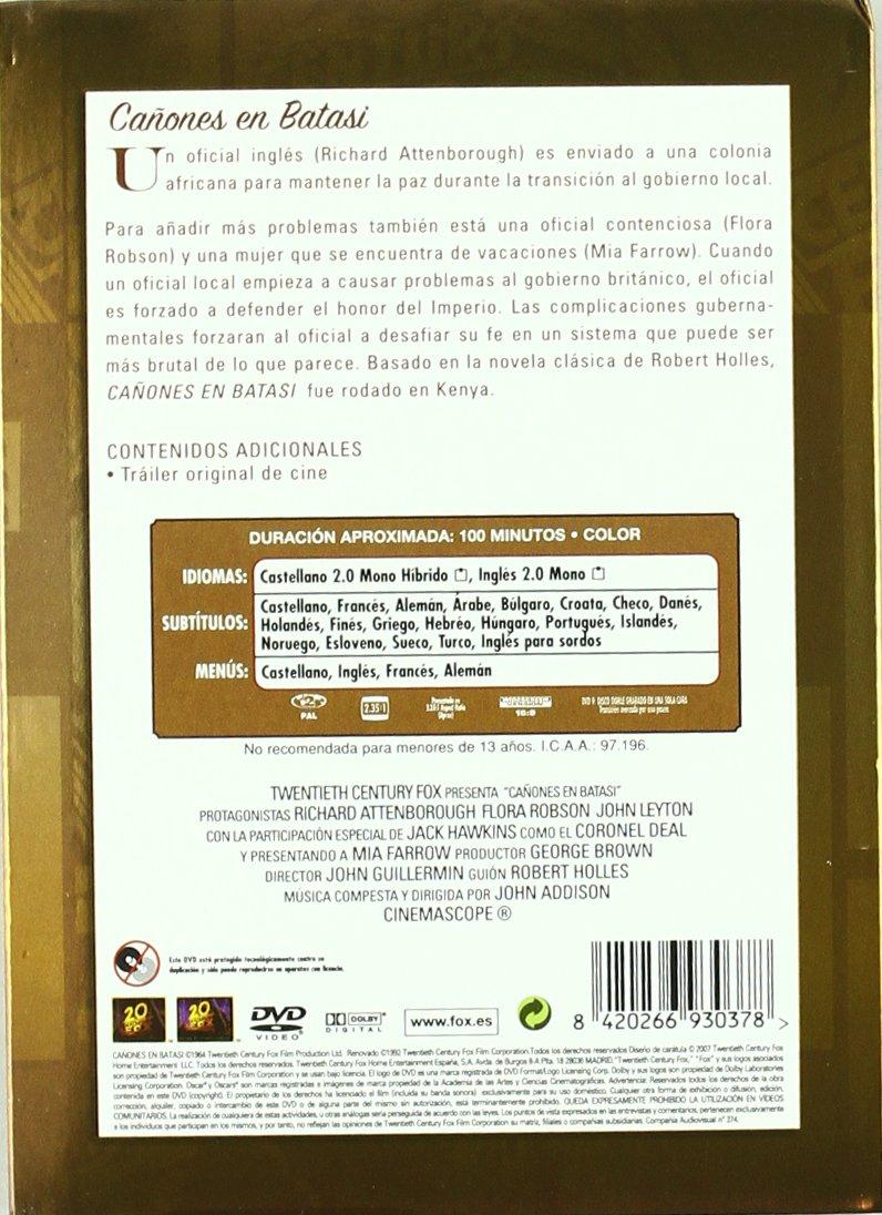 Cañones de batas [DVD]: Amazon.es: Richard Attenborough, Flora Robson, John Leyton, Mia Farrow, Jack Hawkins, Cecil Parker, John Guillermin, ...
