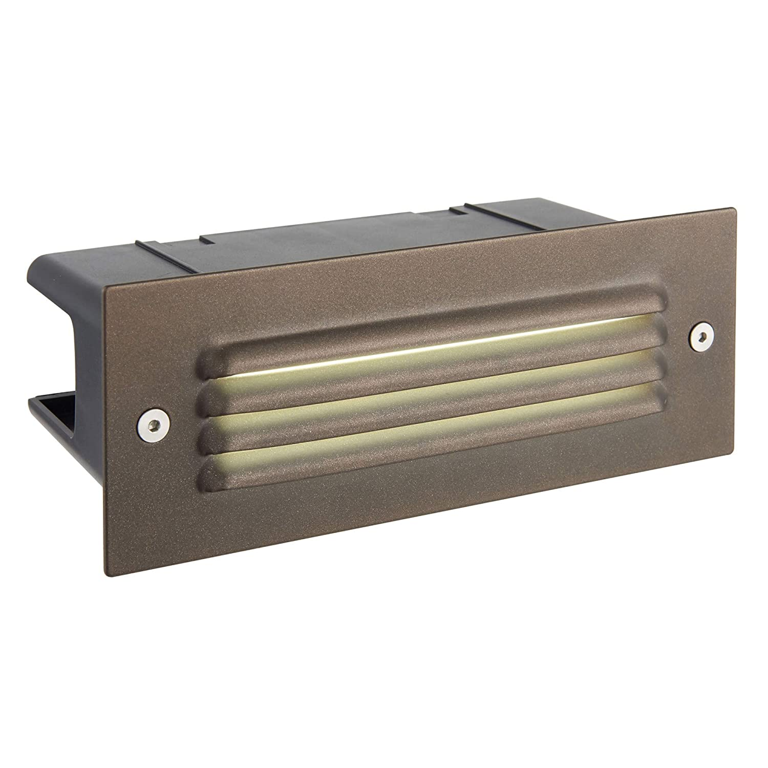 Zip-LED Step Light Bronze Marine Grade Stainless Steel, 100V-240V Input Voltage, 3000K Warm White, Wet Location IP44, for use Outdoor on Landscape, Deck, Recessed Wall, Walkways