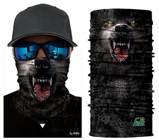 Waymeduo Skull Tubular Protective Dust Mask Bandana Motorcycle Polyester Scarf Face Neck Warmer for Snowboard Skiing Motorcycle Biking