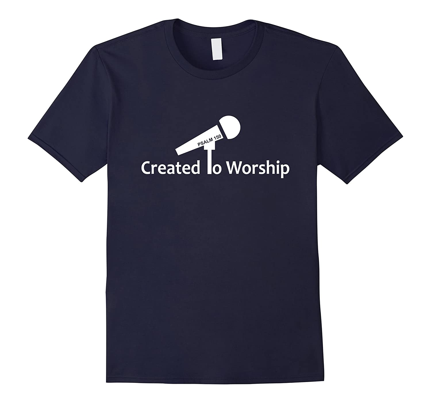 Created To Worship - Microphone - Christian T-Shirt-BN