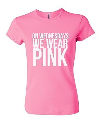 b8708abbfdad Amazon.com: On Wednesdays We Wear Pink T-Shirt: Clothing
