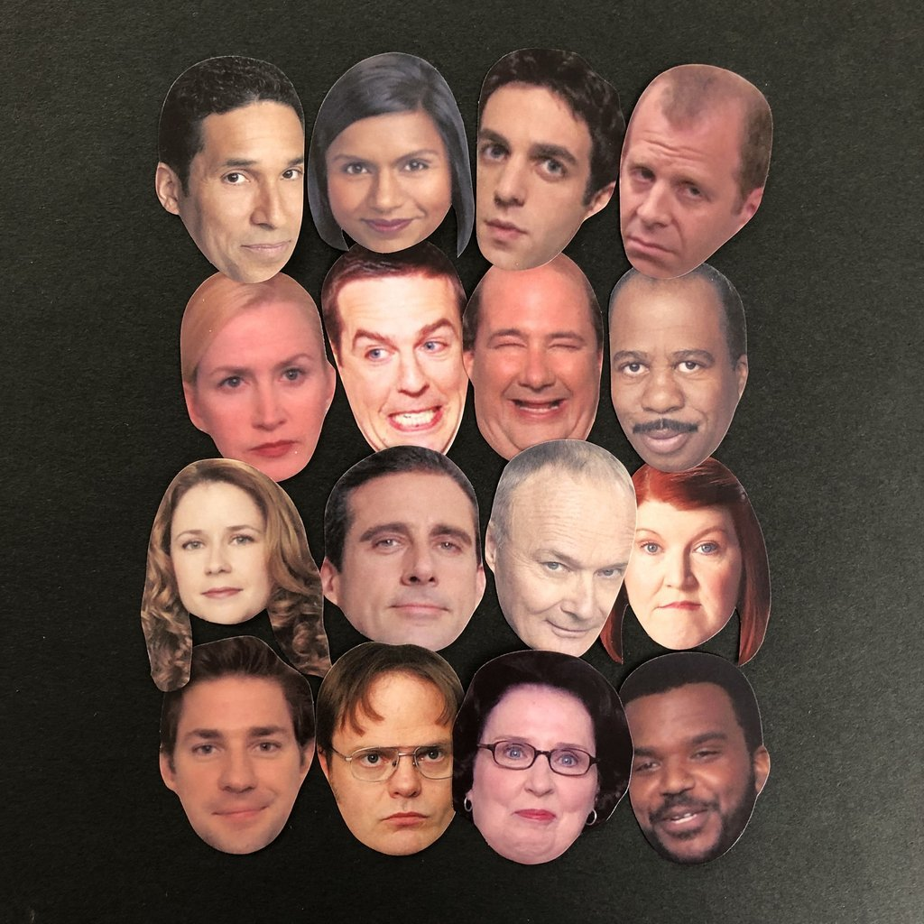 The Office Characters Sticker Set