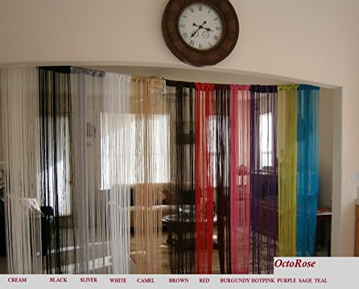 Curtains Ideas curtains in doorways : Amazon.com: White String Curtain 40x110