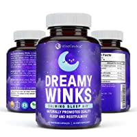 Natural Dreamy Sleep Aid   Deep Relaxation, Natural Stress, Anxiety & Insomnia Relief with 5 HTP Griffonia Simplifonia, Sour Jujube Seed, Magnolia Bark, Valerian Root, and L-Theanine. 60 Capsules.