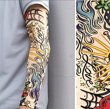 BIANJESUS Mangas del Sol Mangas del Tatuaje Hombres Manguito ...