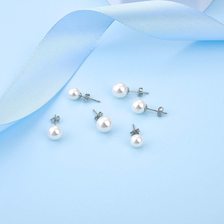 Schmuck,Perlstecker,Ohrstecker,Perle,Zuchtperle weiss 6,5-7mm Silber//925 rhod
