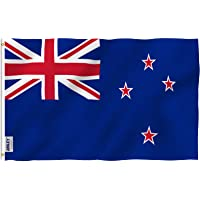 ANLEY® [Fly Breeze] 3x5 Foot New Zealand Flag - Vivid Color and UV Fade Resistant - Canvas Header and Double Stitched…