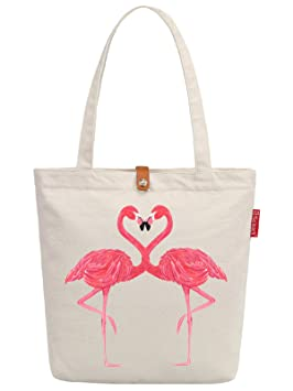 205bc3ea7 So 'each Flamingo de la mujer amante Graphic Top Mango Bolsa de lona bolso  de