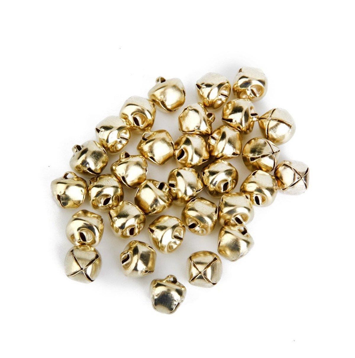 100 PCS Petites Clochettes Grelots en M/étal Jingle Bells pour No/ël//D/écoration de BByu Argent