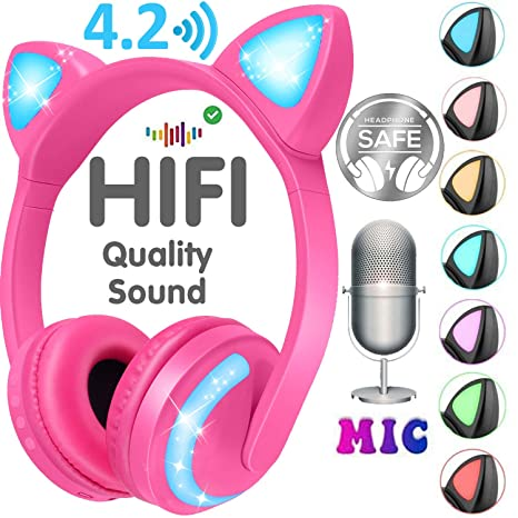 Amazon Com Gbd Cat Ear Kids Headphones Boys Girls Men Women