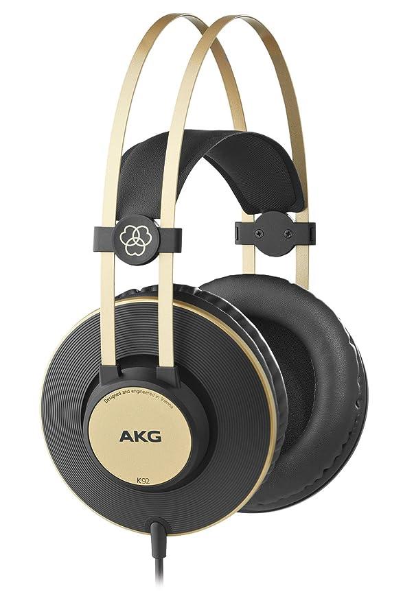 99 opinioni per AKG K92- Cuffia Chiusa, Colore: Nero opaco/Oro