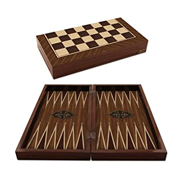 The 19 Antique walnut Backgammon designs Board Game Set