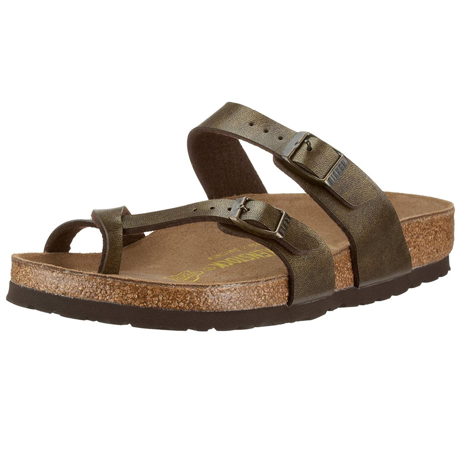 Birkenstock Womens Mayari Golden Brown Synthetic Sandals 38 EU