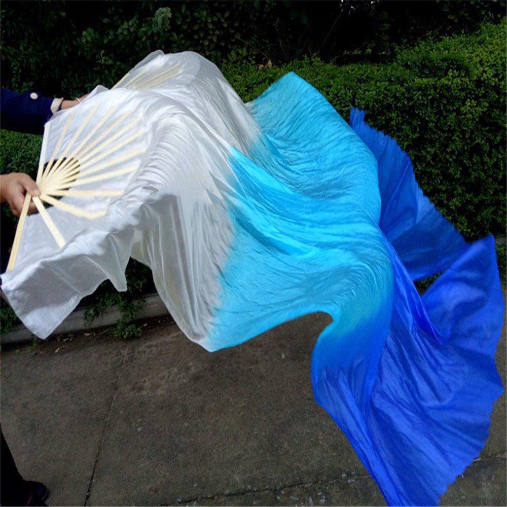 Una coppia 1, 5 m / 1, 8 m Ventaglio di bambù di danza del ventre Ventaglio di danza Ventilatore quadrato xiangshang