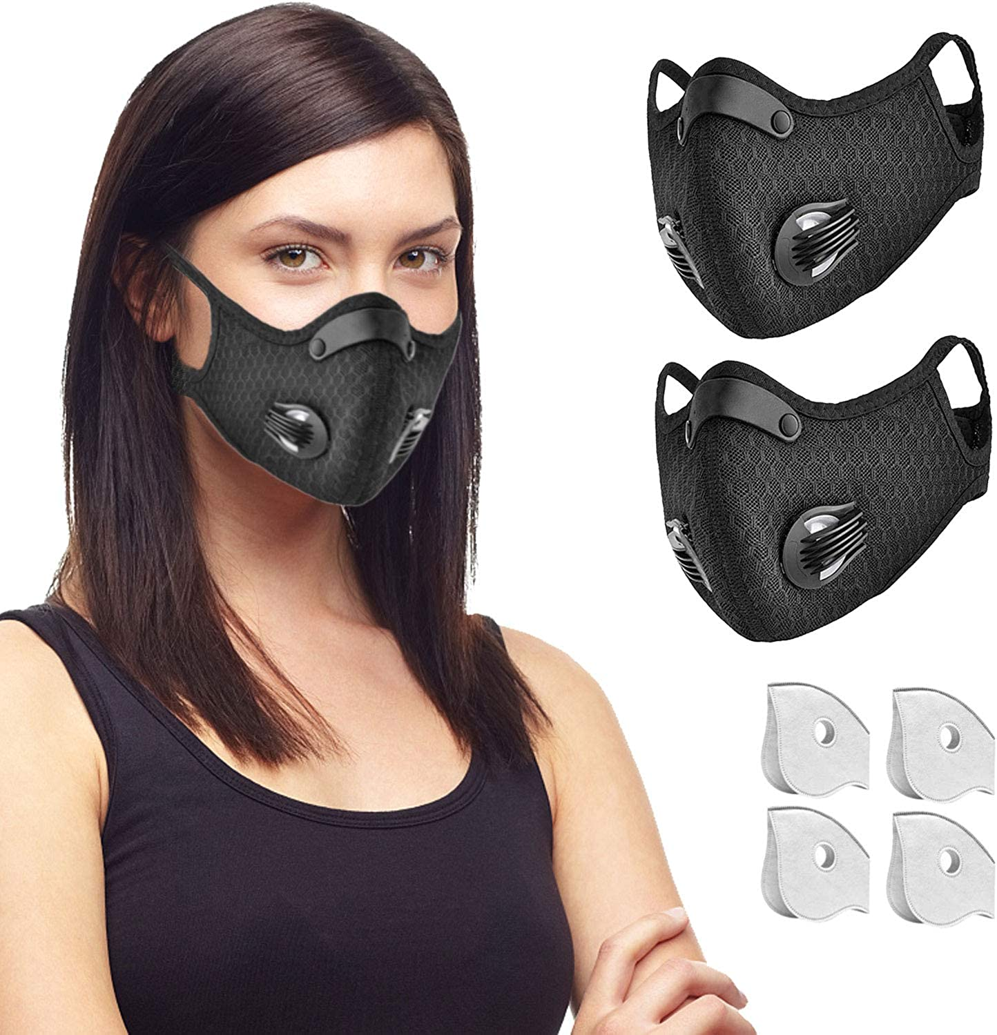 Mesh Breathable Activated Carbon Filter Dustproof Anti-haze Outdoor Jogging Mask