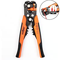 """HORUSDY Self-adjusting Wire Strippers, 8"""" Automatic Wire Stripping Tool/Cutting Pliers Tool for Wire Stripping, Cutting, Crimping 10-24 AWG (0.2~6.0mm²) - Best Unique Tool Gift for Men"""