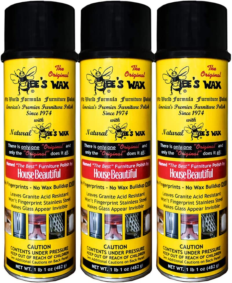 The Original Bee's Wax Old World Formula Furniture Polish - 3 Pack