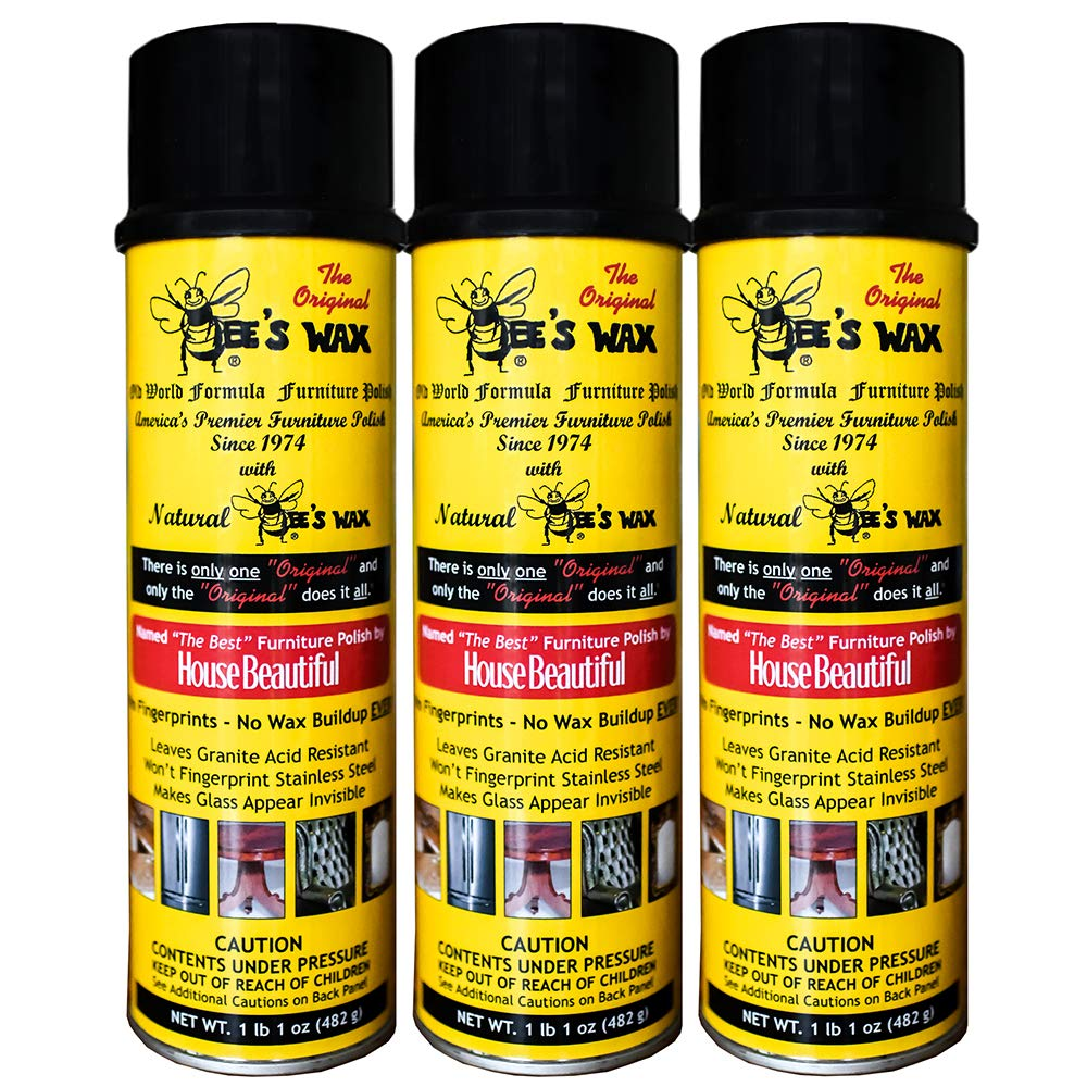 The Original Bee's Wax Old World Formula Furniture Polish - 3 Pack by World Class Promotions
