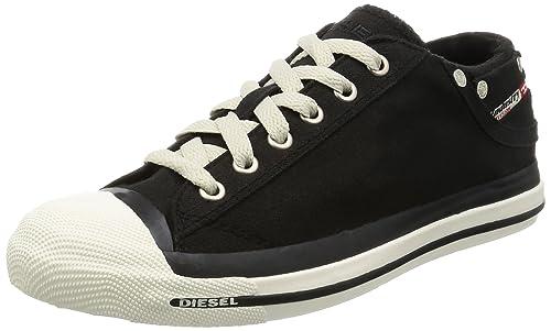 Diesel Women's Exposure Low Black Trainer 00Y835 ...