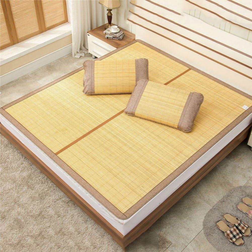 LJ&XJ Bamboom Cooling Mattress top mat,Foldable Double-Sided Summer Sleeping mat,Smooth Cooling Summer Sleeping pad Mattress-B Full