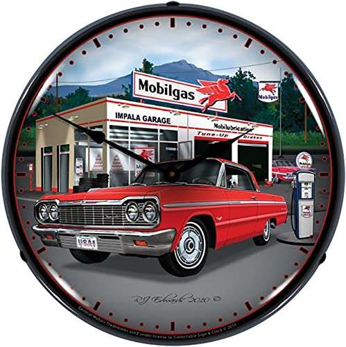 Collectable Sign and Clock GMRE1012279 14 1964 Impala Garage Lighted Clock