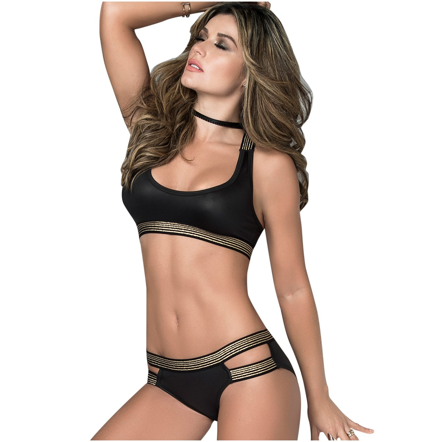 Mapalé 2/3 Piece Set Athletic Sexy Underwear for Women Ropa Intima Para Mujer at Amazon Womens Clothing store: