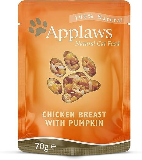 Applaws Cat Food Pechuga de pollo y calabaza, paquete de 12 (12 x 70 g)