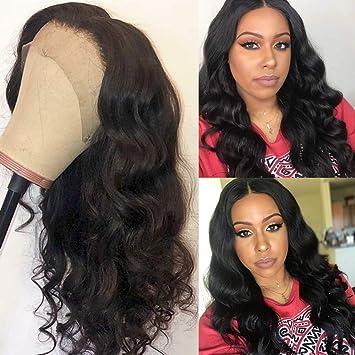 Amazon.com   150% Density Body Wave Full Lace Wigs Human Hair With Baby Hair  Wet And Wavy Virgin Brazilian Hair For Black Women (14inch fd0b6e62b