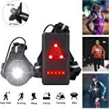 Night Running Lights, USB Rechargeable Chest Light with 90° Adjustable Beam Angle, 500 Lumens Waterproof Ultra Bright…