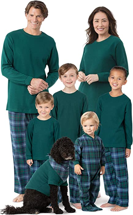 c9b9da9c9 Amazon.com  PajamaGram Christmas Pajamas for Family - Soft Flannel ...