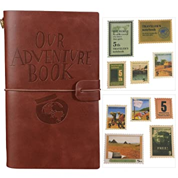Our Adventure Book Journal Refillable Notebook Leather Notepad Travel Diary With Card Slots and Zipper Pocket Personalized Gi