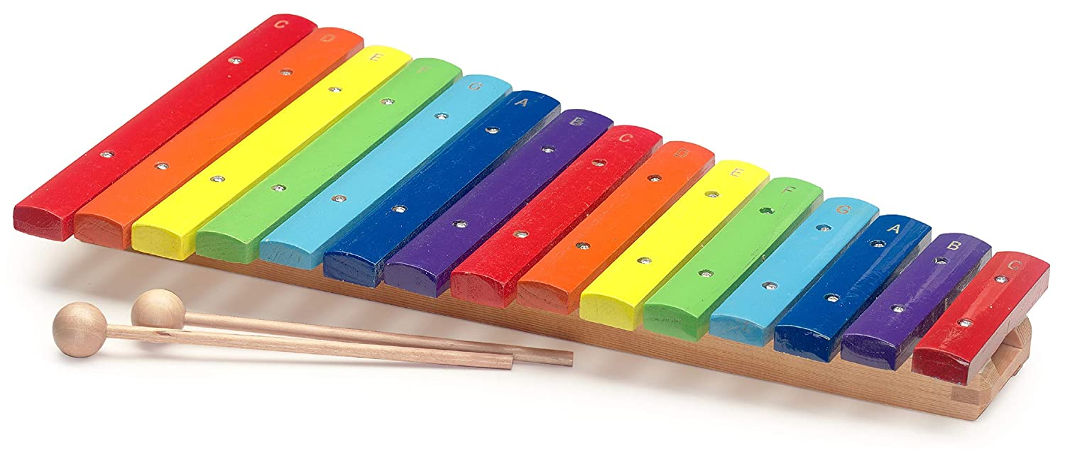 Stagg, Xylophone, 15 Keys, Rainbow Color XYLO-J15 RB