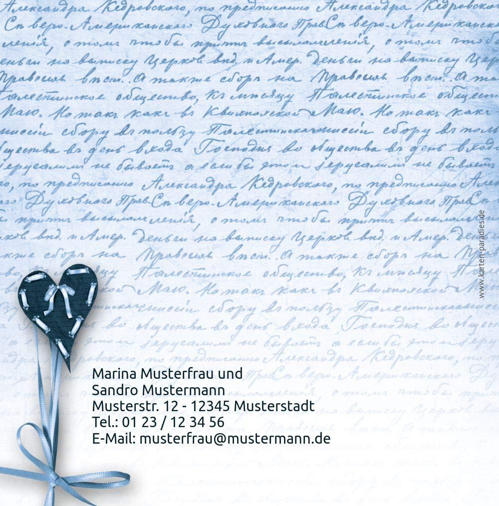 Hochzeit Einladung 2 2 2 Herzensgedicht, 10 Karten, TürkisGrauMatt B07HN78268 | Erste Kunden Eine Vollständige Palette Von Spezifikationen  | Modernes Design  | Internationale Wahl  dd74d2