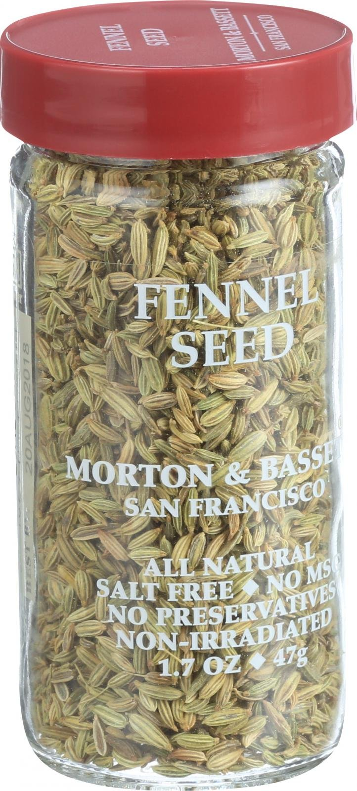 Morton and Bassett Seasoning - Fennel Seed - 1.9 oz - Case of 3 - All Natural - Salt Free