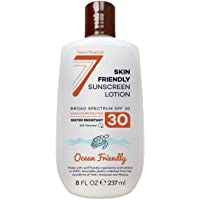 EWG Best Rated Non-Mineral Sunscreen SPF 30 - Safe for Sensitive Skin and Face - Broad Spectrum UVA/UVB Sunblock Lotion with Moisturizing Aloe & Vitamin E - Reef Safe Ingredients - 8 fl oz