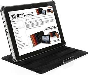 StilGut UltraSlim Case V2, custodia con funzione di supporto per Acer Iconia Tab A200, nero