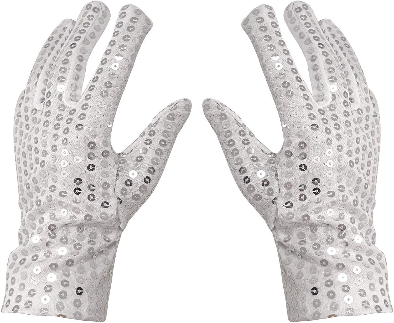 Michael Jackson Child Sized Glove Silver Sequin Accessory Halloween Costume