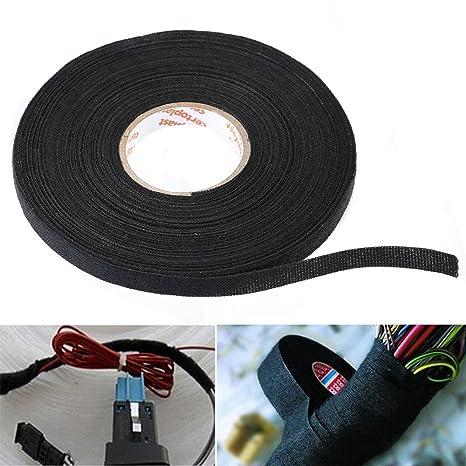 amazon com willai 1pc wiring harness tape black adhesive cloth rh amazon com Ignition Wire Looms Cloth Wire Loom