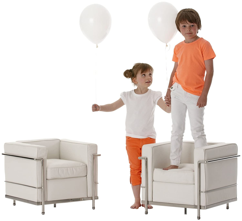 Amazon.com: Little rodar Le Club chair- Plata/Color Blanco: Baby