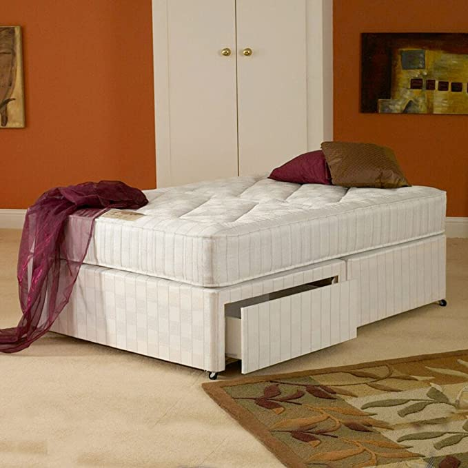 Deluxe Beds Ltd 6Ft Super Kingsize Oxford Orthopaedic Zip /& Link Divan