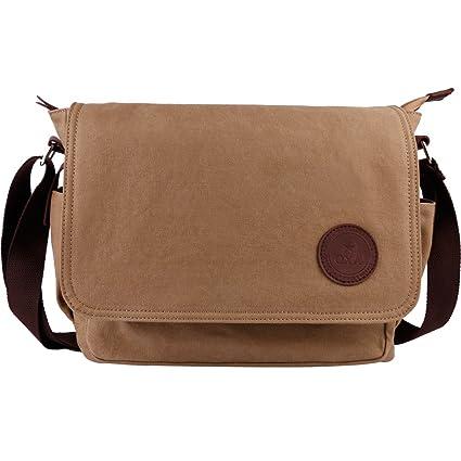 f22635cfd27c51 OXA Vintage Canvas Messenger Bag Shoulder Bag ipad Bag Book Bag Satchel  School Bag Crossbody Bag for Men Casual Leisure Fashion Brown:  Amazon.co.uk: ...