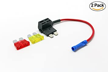 71cDOC%2BivaL._SX355_ amazon com uriveusa 12v car add a circuit fuse tap adapter fuse Online Car Wiring Diagrams at creativeand.co