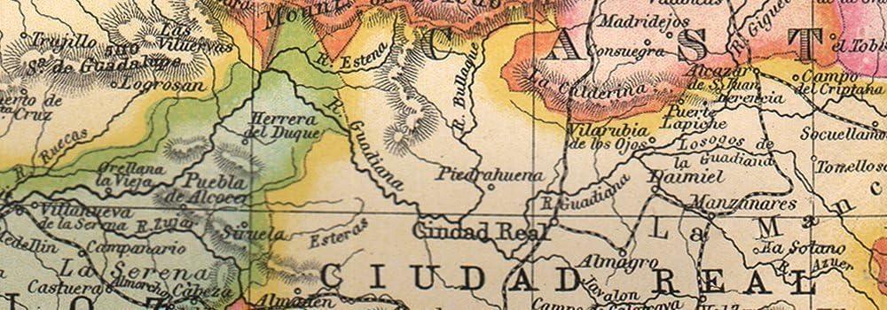 Iberia. Provincias España y Portugal.. Bartholomew – 1890 – Old ...