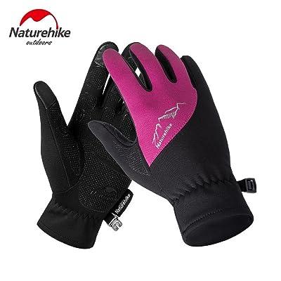 Naturehike hiver Ourdoor Gants de sport Gants écran tactile hommes gants femmes complète des gants de doigt NH17S004-T
