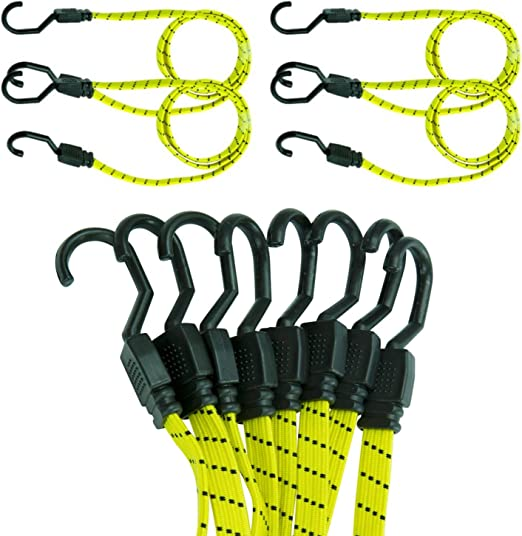 Outdoor Sports Bungee Cord Rubber Useful Moving Straps Durable Hook Wall DecorBA