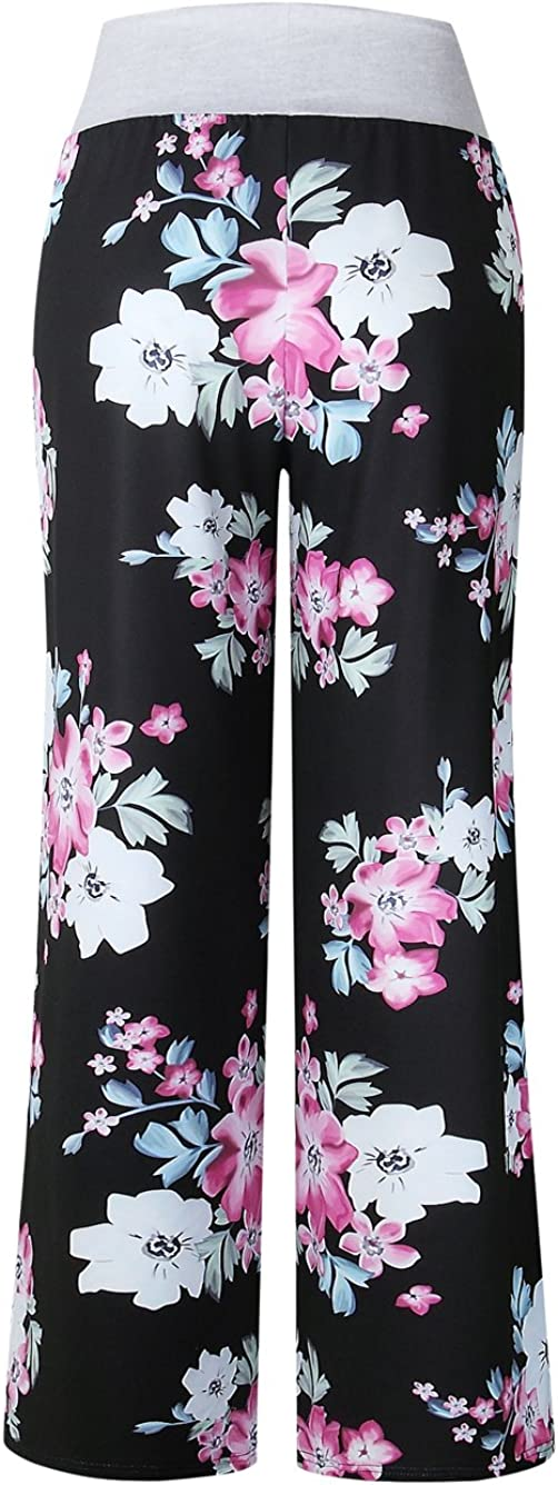 stile casual a gamba larga con motivo floreale Pigiama da donna Famulily